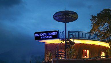 Hoàng hôn tại khách sạn Mai Châu Sunset Boutique